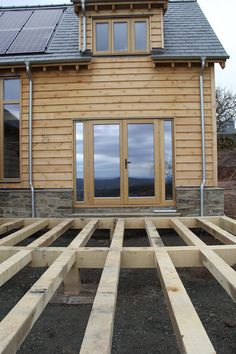 Oak framed house with decking #timberframe