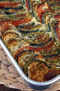 Pastel de Calabacín y Tomate #singluten #verduras