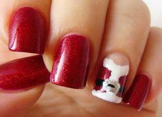 Santa Chrismas nails