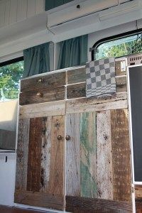 camper kitchen wood wallpaper