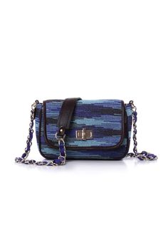 #MMissoni Accessories   Cyber Lurex Bag in cobalt and sky blue   Summer 2014 Collection
