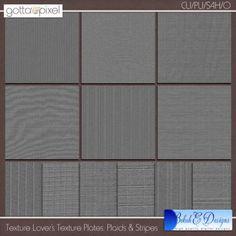 Texture Lover's Digital Scrapbook Texture Plates - Plaids and Stripes. $4.36 at Gotta Pixel. www.gottapixel.net/