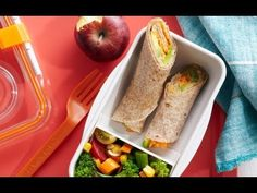 Veggie Tortilla Wraps - Easy School Lunch Recipes
