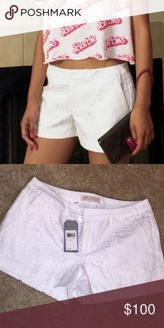 Guess Shorts Trades Sz 4 Guess Butnout Rayon Shorts in True White ... Barbie logo Crop and Coach Wristlet also listed Guess Shorts