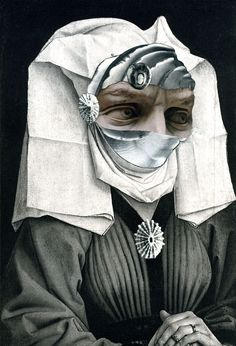 "Doug Stapleton, Margaret, collage on paper, 11 1/2 x 7 3/4"" (29.2 x 19.7 cm), 2014"