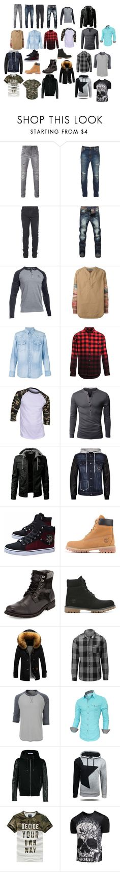 """fashion"" by izze93 on Polyvore featuring Pierre Balmain, Nudie Jeans Co., Balmain, Under Armour, Missoni, Visvim, Woolrich, Doublju, Philipp Plein and Timberland"