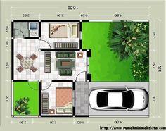 desain interior rumah tipe 36 model minimalis | Jaaru House Layout Design, Tiny House Design, House Layouts, Sims House, Facade House, Home Design Plans, House Floor Plans, My Dream Home, Home And Living