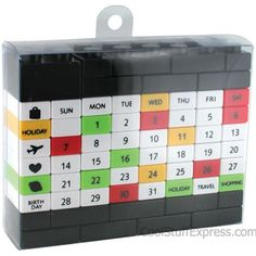 Perpetual Block Puzzle Calendar
