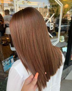 Copper Lowlights on Dark Brown Hair