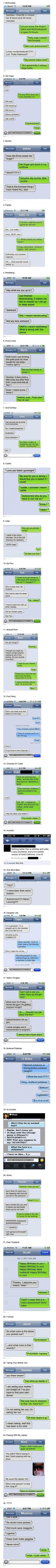 Great collection of funny autocorrect text message fails...these are the funniest texts iv seen et!!