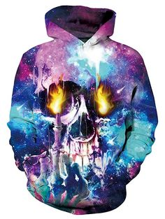595d0b208 Amazon.com: Hoodie Skull Fire Galaxy Nebula Uideazone Novelty Mens Womens  Unisex 3D Printed Hooded Sweatshirt Jacket Casual Pullover #fashion  #clothing ...