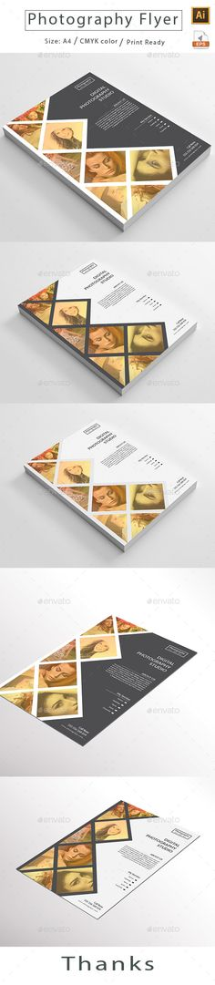 Photography Flyer Template Vector EPS, AI Illustrator