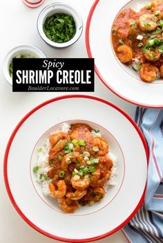 Shrimp Creole is an easy recipe that's quick to make. Packed with spicy tomato sauce, loads of spices and fresh shrimp. A great easy dinner recipe anytime. Fast Dinners, Fast Easy Meals, Weeknight Dinners, Healthy Meals, Gluten Free Recipes For Dinner, Easy Dinner Recipes, Delicious Recipes, Vegetarian Recipes, Cajun Recipes