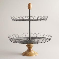 One of my favorite discoveries at WorldMarket.com: Edin Wood 2-Tiered Stand