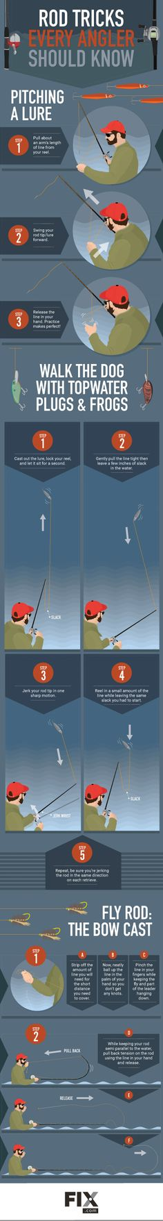 Tricks Every Angler Should Know: Tips for Tight Situations Sometimes the fish are hiding in areas where it's tricky to cast, like around weeds and rocks. Practice these rod tricks to improve your casting accuracy!Improved Improved may refer to: Bass Fishing Tips, Crappie Fishing, Fishing Knots, Gone Fishing, Best Fishing, Kayak Fishing, Fishing Stuff, Fishing Tricks, Catfish Fishing
