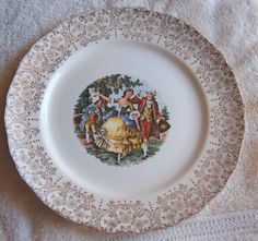 Royal Queen Romance Plate 22K gold 10 dinner by GrannysTreasures4u, $12.95