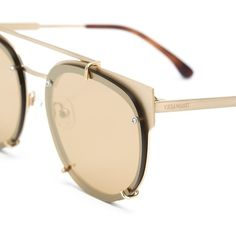 Vera Wang round frame sunglasses ($460) ❤ liked on Polyvore featuring accessories, eyewear, sunglasses, vera wang, vera wang eyewear, vera wang sunglasses, tortoiseshell glasses and stainless steel glasses