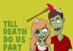 I will draw you as a hilarious fun cartoony zombie