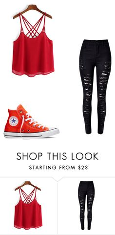 """""""Date #2"""" by maddiebvb24 ❤ liked on Polyvore featuring WithChic and Converse"""