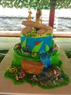 Lion guard cake birthday Ono kion beshte fuli bunga