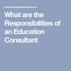 Education Consultant Job Description and Salary | Lauren ...