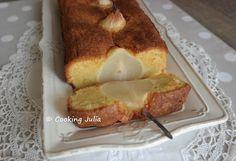 COOKING JULIA  : CAKE AMANDINE AUX POIRES ENTIÈRES