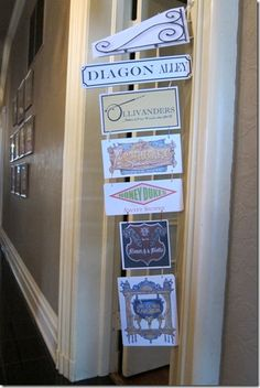 Diagon Alley street signs
