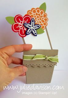 Julie's Stamping Spot -- Stampin' Up! Project Ideas by Julie Davison: Flower Pot Card Video Tutorial