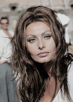 Sophia Loren on the set of C'era una Volta, 1967.