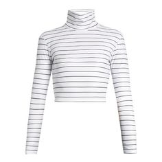 Salt Gypsy High-neck cropped performance rash-guard top (82 CAD) ❤ liked on Polyvore featuring high-neck swimwear, rash guard swimwear and rashguard swimwear