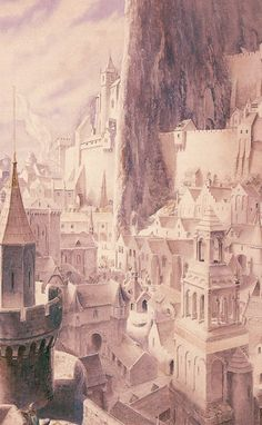 Minas Tirith by Alan Lee