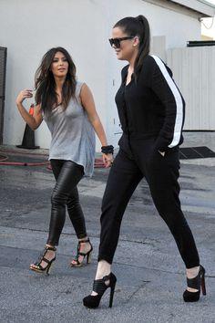 Kim Kardashian Leather pants