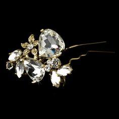 Gold Plated Bridal Hair Pin 95