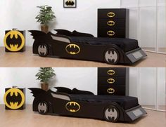 Cool children car beds for toddler boy bedroom design ideas Interesting Batman Sports Car Bed For Boys Bedroom Sets. I would sleep in this bed are you kidding me