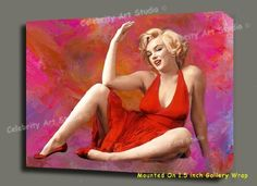 """MARILYN MONROE ORG MIXED MEDIA PAINTING ON CANVAS MOUNTED 28X22X1.5""""    Direct Link:   http://www.amazon.com/MARILYN-MIXED-MEDIA-PAINTING-28X22X1-5/dp/B001BG2WSU/?tag=greavidesto05-20"""