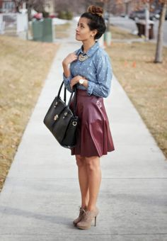 Faux Leather Skirt @GYPSY THREADS