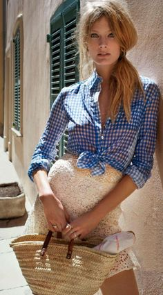 Gingham And Lace Summer Style