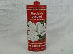 Vintage Gardenia Bouquet Talcum Powder Tin by FairchildsInc, $11.00
