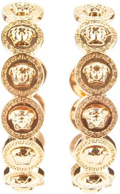 Versace ~ Medusa Coin Earrings