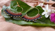 Aretes de Macrame aretes coloridos boho joyas de macramé