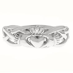 Irish Claddagh Wedding Band Set In White Gold For Women Available Exclusively at Gemologica.com Valentine's Day 2015 Jewelry Gift Ideas for Him, Her and Kids. Gemologica has the perfect homemade and creative gifts for your boyfriend, girlfriend and for couples including rings, earrings, bracelets, necklaces and pendants. Shop now for special savings at https://www.gemologica.com Gift Guide Located at https://www.gemologica.com/jewelry-gift-guide-c-82.html