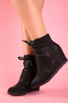 Sneaker Wedge - Not a big fan of tennis/sneaker shoes but i like these....