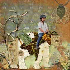 Layout using Patchwork Menagerie (Collection) by he{art} Journaling