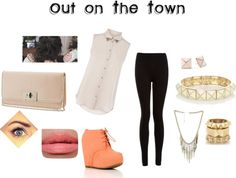 """""""Out on The Town"""" by ainecullen ❤ liked on Polyvore"""