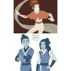 Zuko and Azula instead of sokka and katara. Toph as Aang