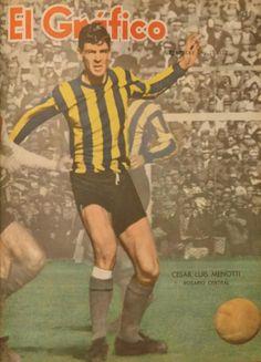 Un 31/7, pero de 1960, Flaco Menotti debuta en la 1ª de Rosario Central y convierte un gol vs Boca en la victoria 3-1 Fc Barcelona, Football, Baseball Cards, History, Plate, Victoria, America, Culture, River