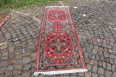 Your place to buy and sell all things handmade Hall Runner, Rug Runner, Vintage Colors, Vintage Rugs, Own Home, Runes, Colorful Rugs, Bohemian Rug, I Shop