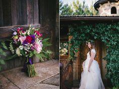 blush cafe au lait dahlia purple clematis wedding bouquet flowers utah calie rose www.calierose.com