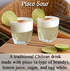 Traditional Chilean drink - Pisco sour