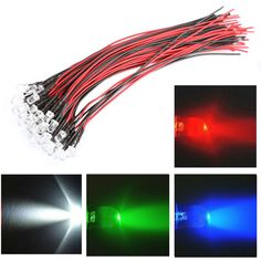 50pcs Dc 12v 5mm Vehicle Car Led Lights Car Decor Led Long Bright Lamp Bulbs Car Styling Car Led Lights Bright Lamp Car Lights